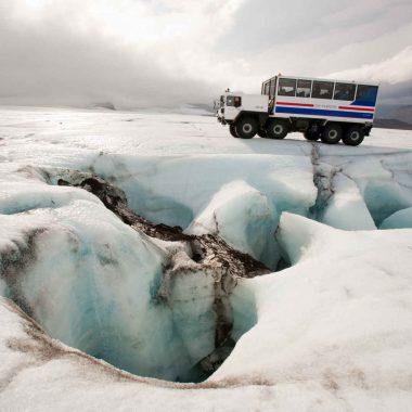 Sur la route des glaciers – en hiver